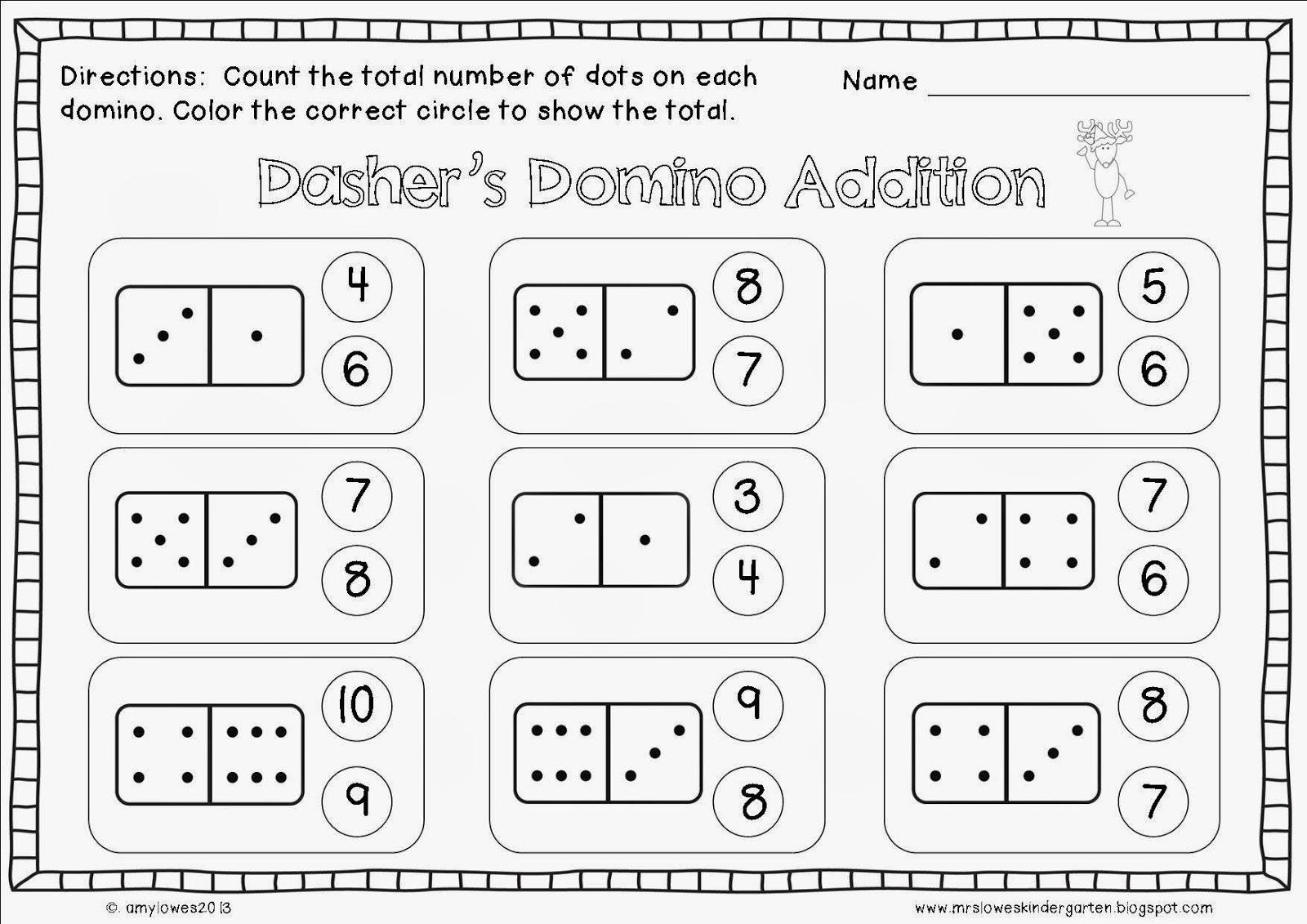 Domino Math Worksheet Worksheets For All