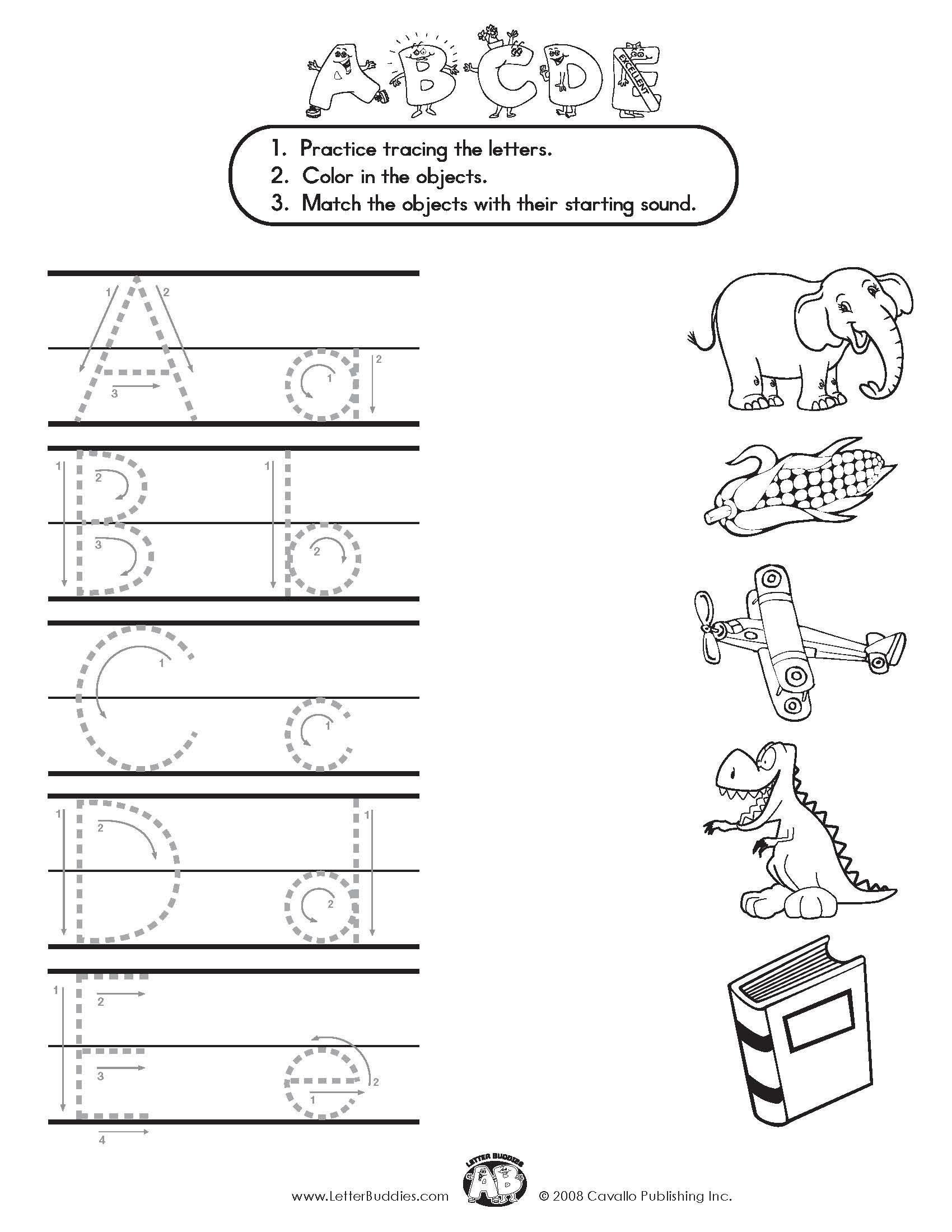 Download Main Page Part 5 Beginning Ending Sounds Worksheets