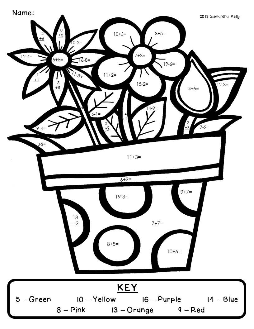Download This Freebie Color By Number From My Blog! It Comes From