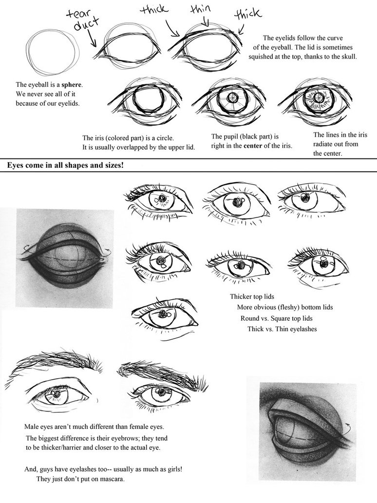 Drawing Eyes Worksheet By Ccrask On Deviantart