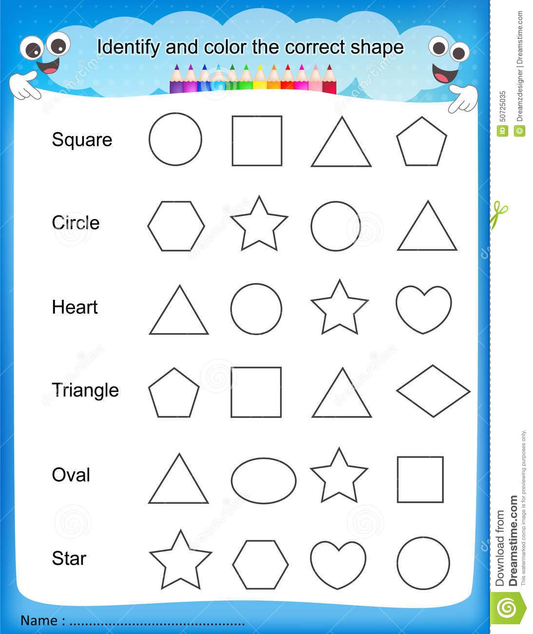 Drawing Worksheet For Kindergarten At Getdrawings Com