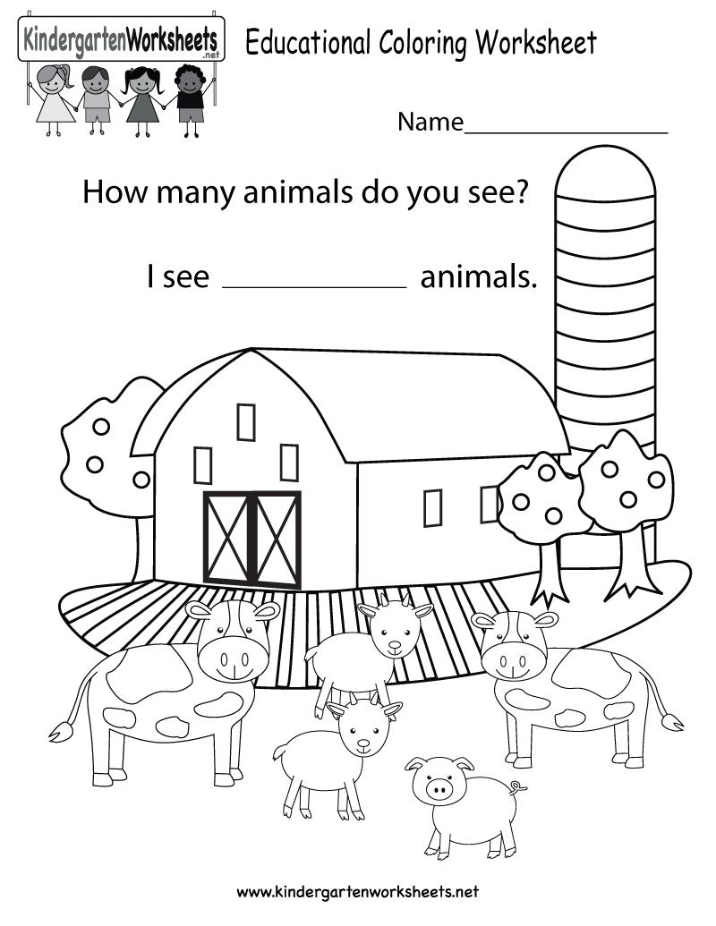 Educational Coloring Worksheet
