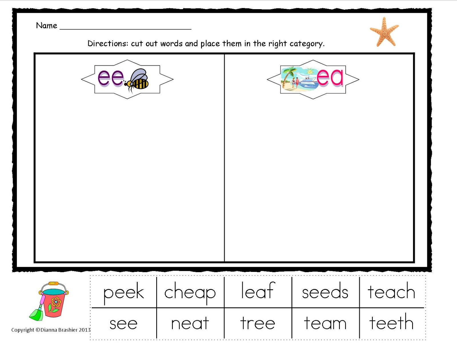 Ee And Ea Worksheets Choice Image