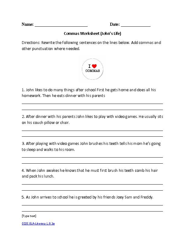 Ela Worksheets 8th Grade The Best Worksheets Image Collection