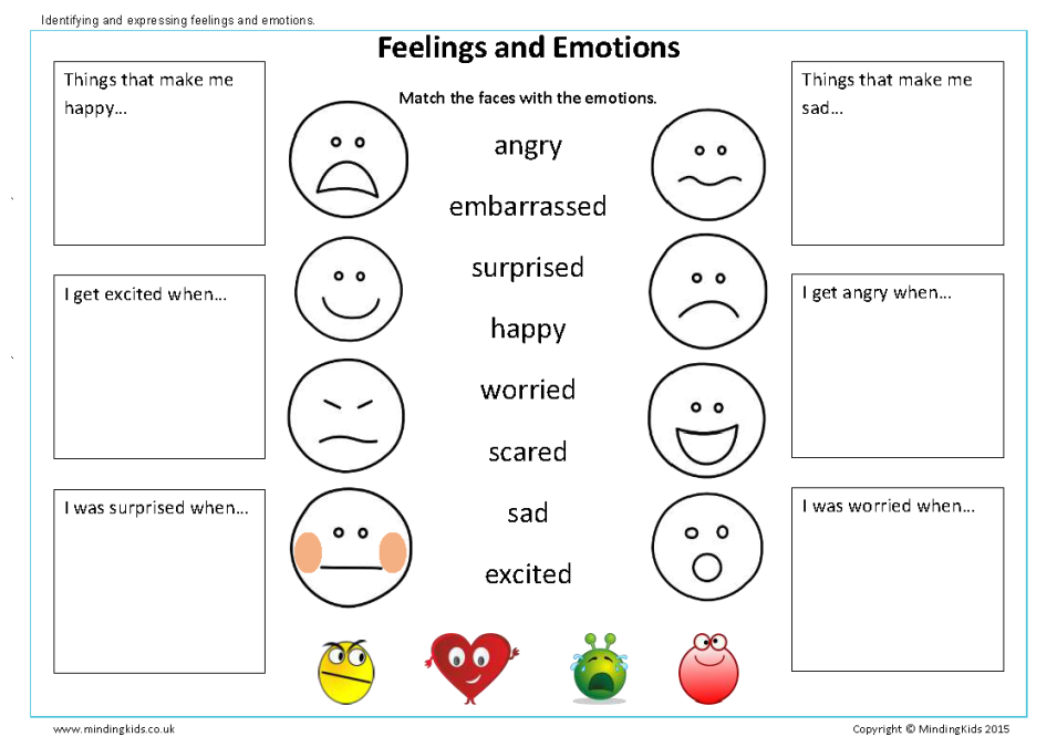 Identifying Emotions Worksheets For Adults