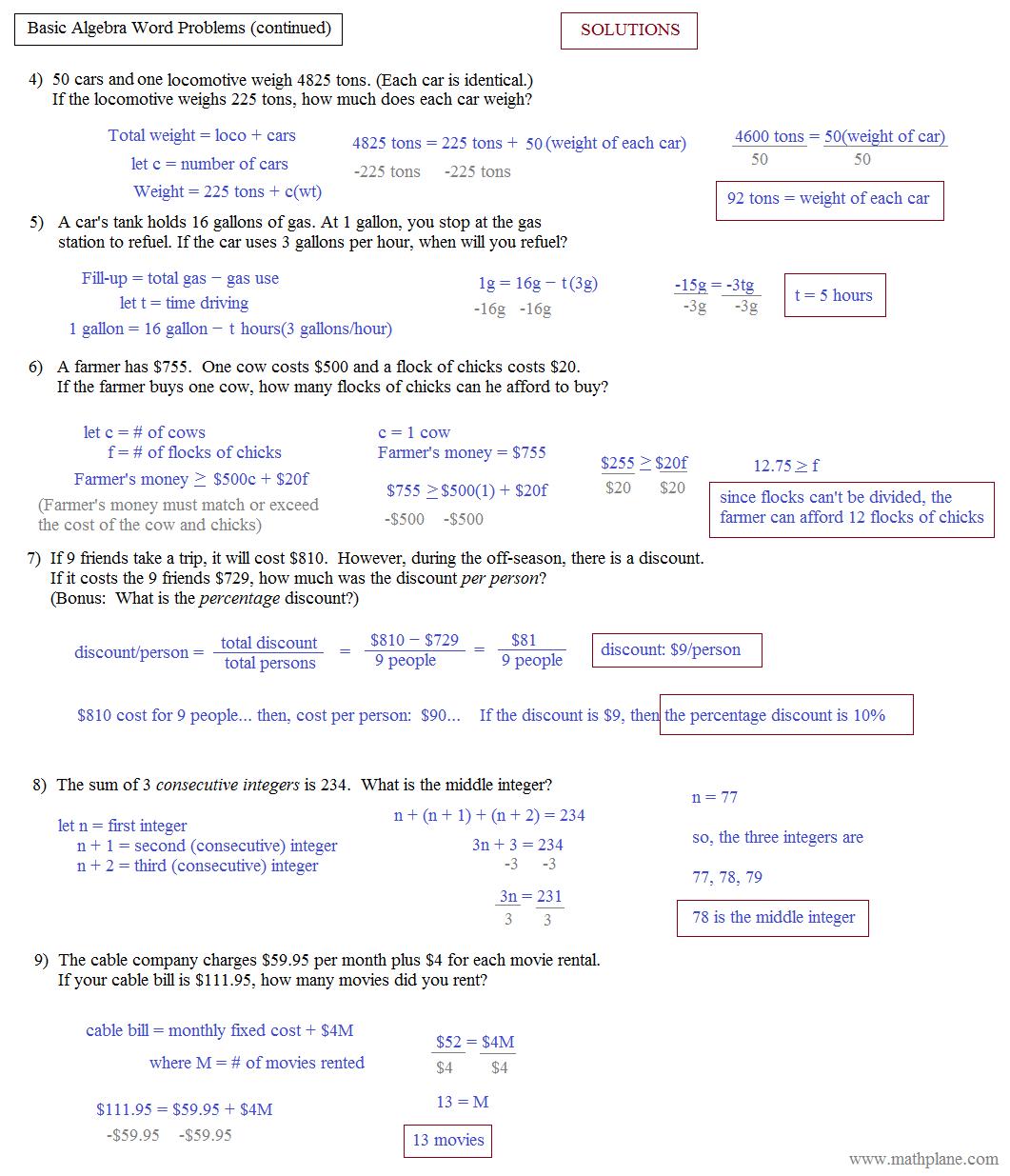 Fair Algebra 2 Word Problems Linear Equations Also Linear
