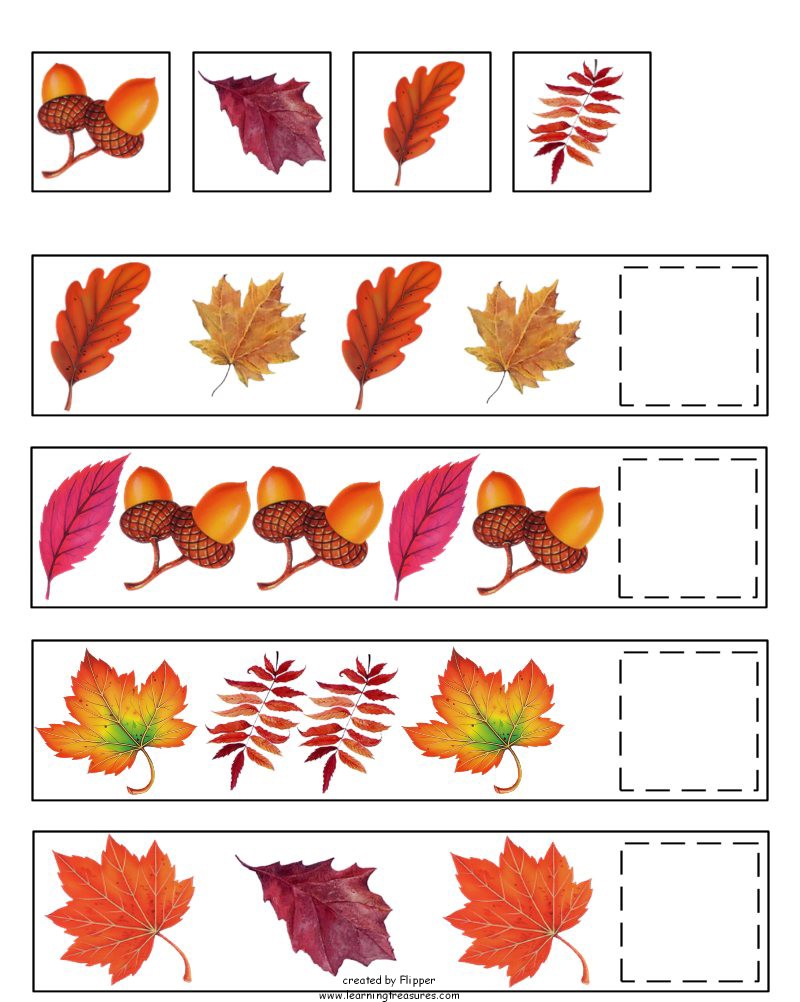 Fall Pre K Worksheets Worksheets For All