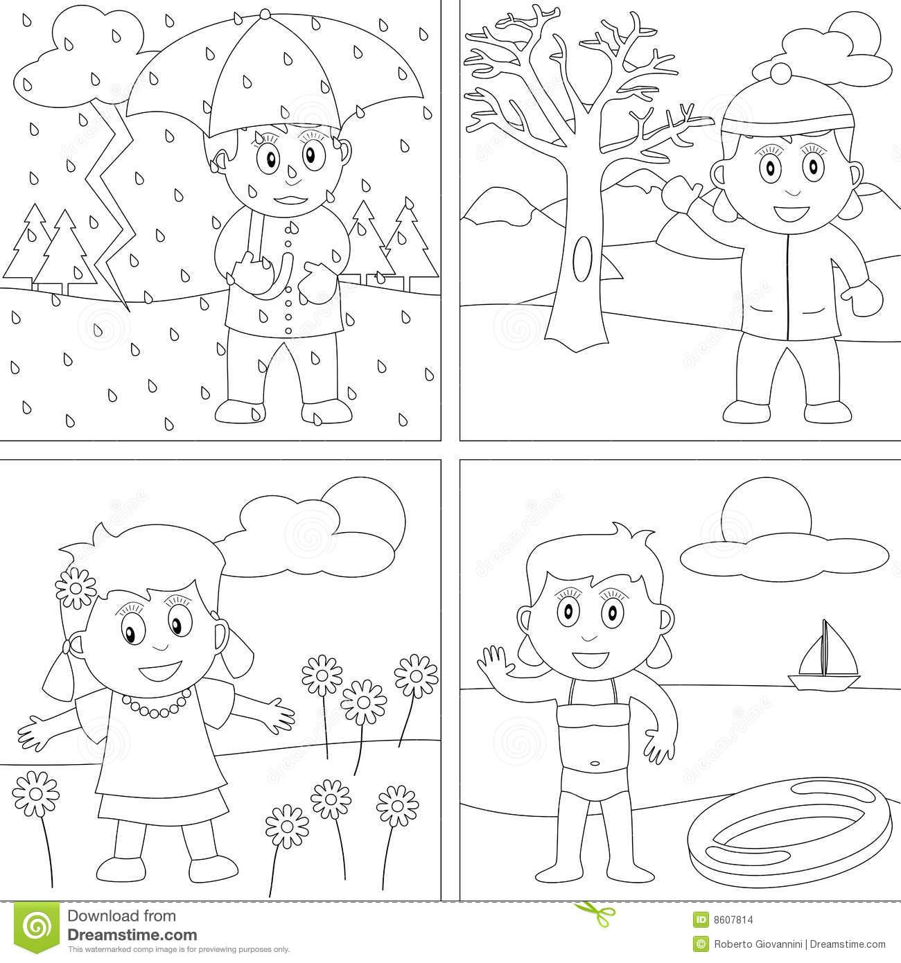 Four Seasons Worksheets For Kids