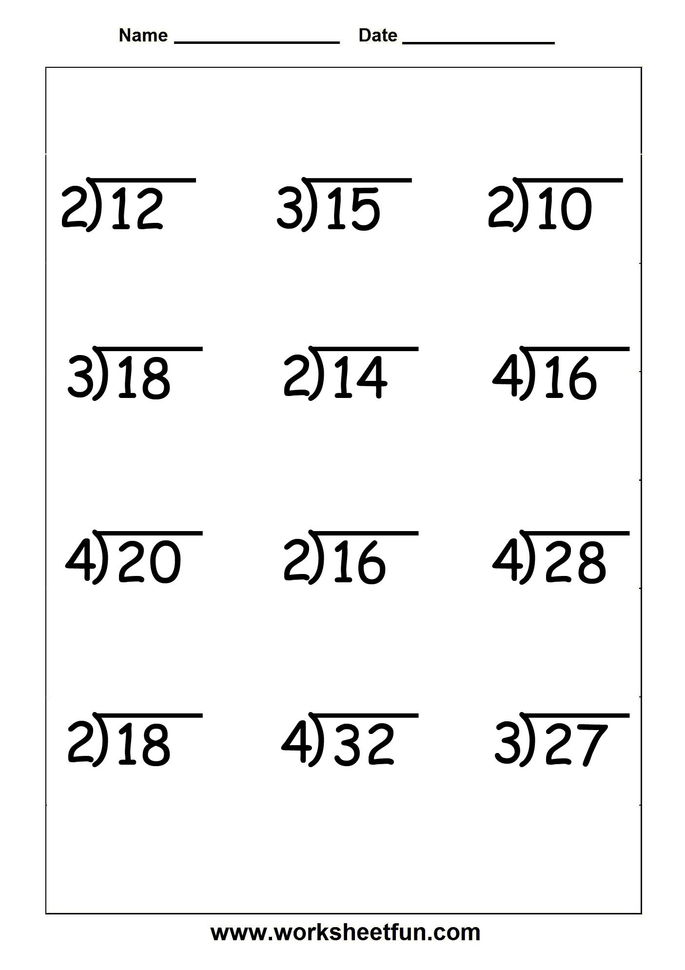 Free Division Worksheets 3rd Grade 6th Grade Math Fractions