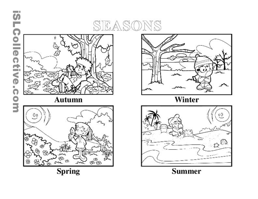 Free Four Seasons Worksheets For Kindergarten