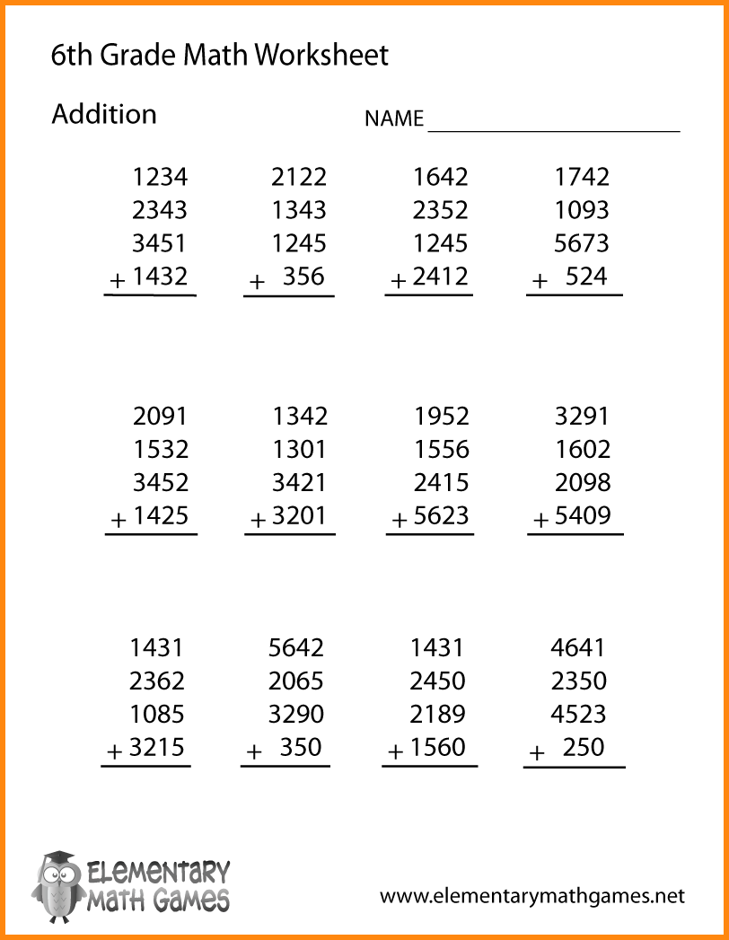 Free Math Worksheet 6th Grade The Best Worksheets Image Collection