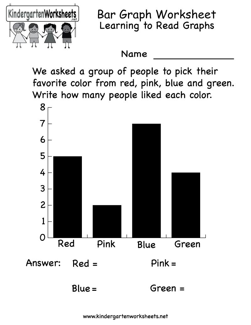 Free Printable Bar Graph Worksheet For Kindergarten