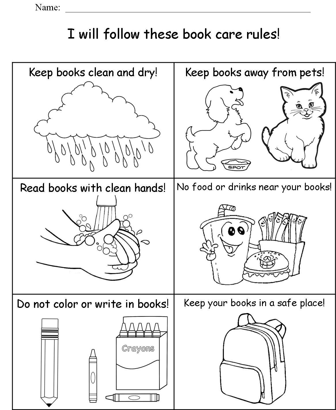 Free Printable Cooking School Worksheet For Kindergarten Computer