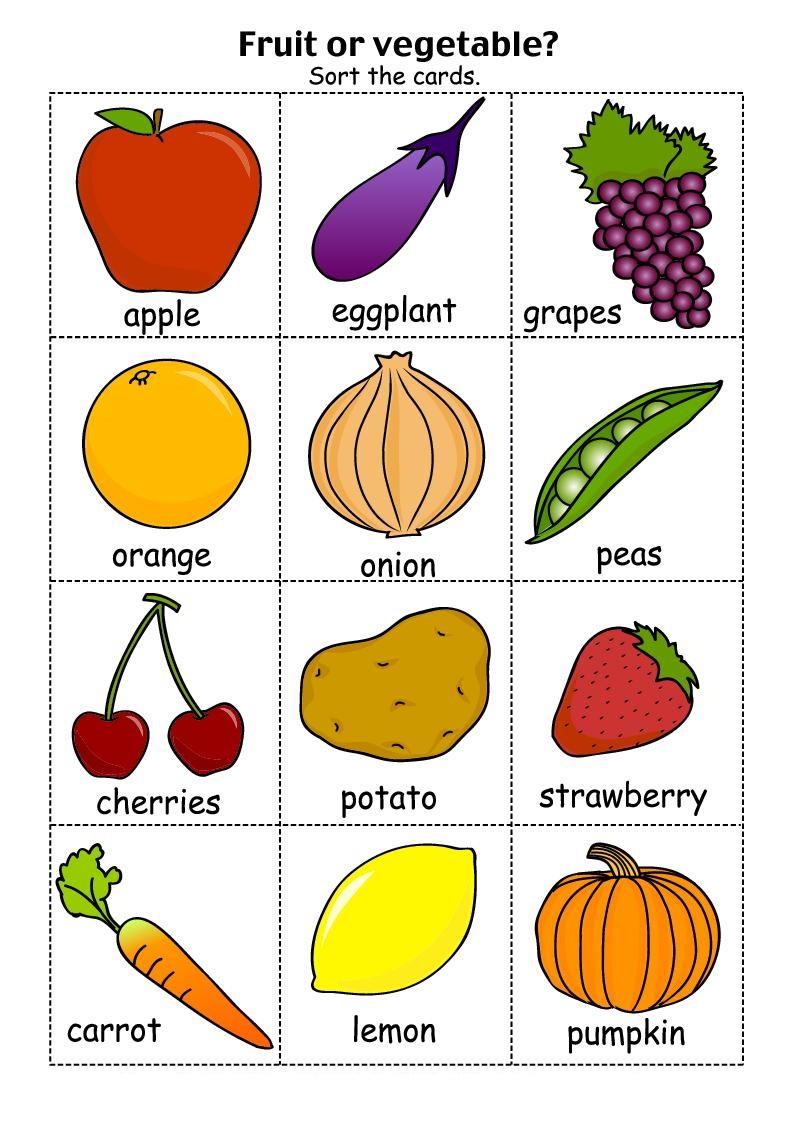 Free Printable Vegetables Worksheets For Kindergarten