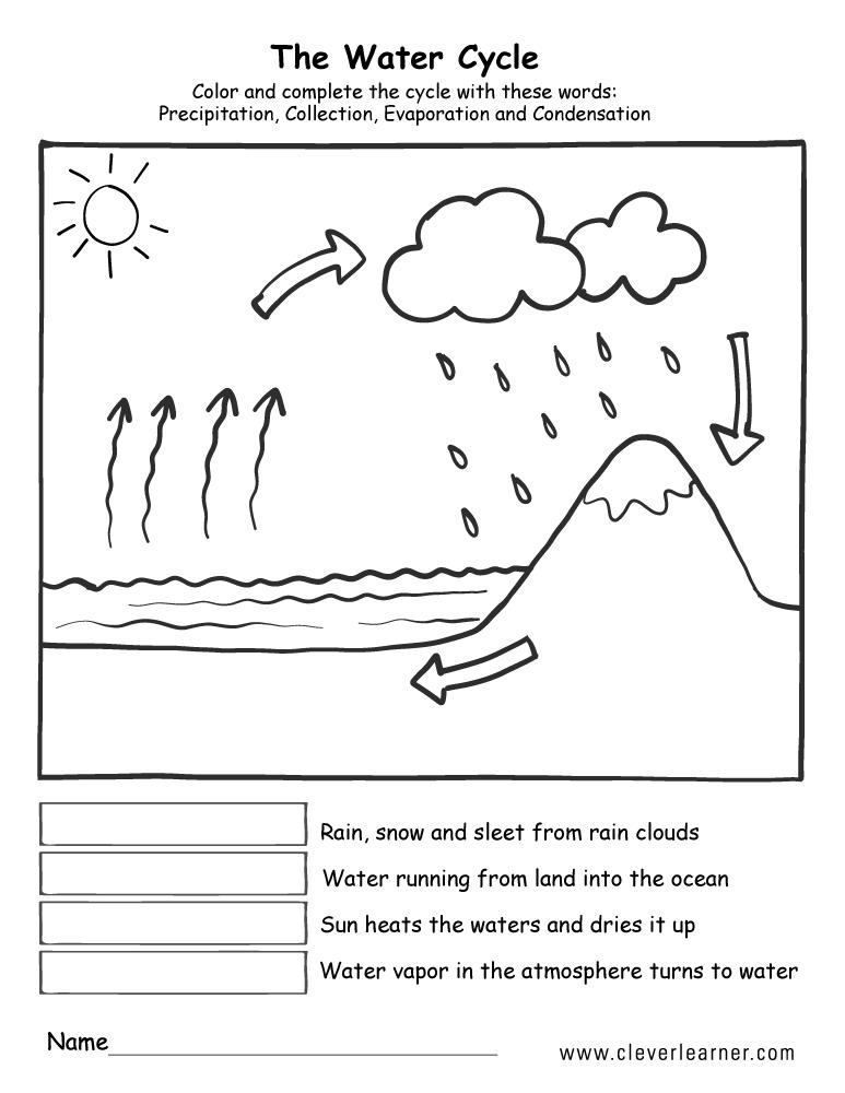 Free Printable Water Cycle Worksheets
