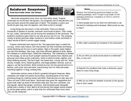 Free Reading Comprehension Worksheets For 6th Grade The Best