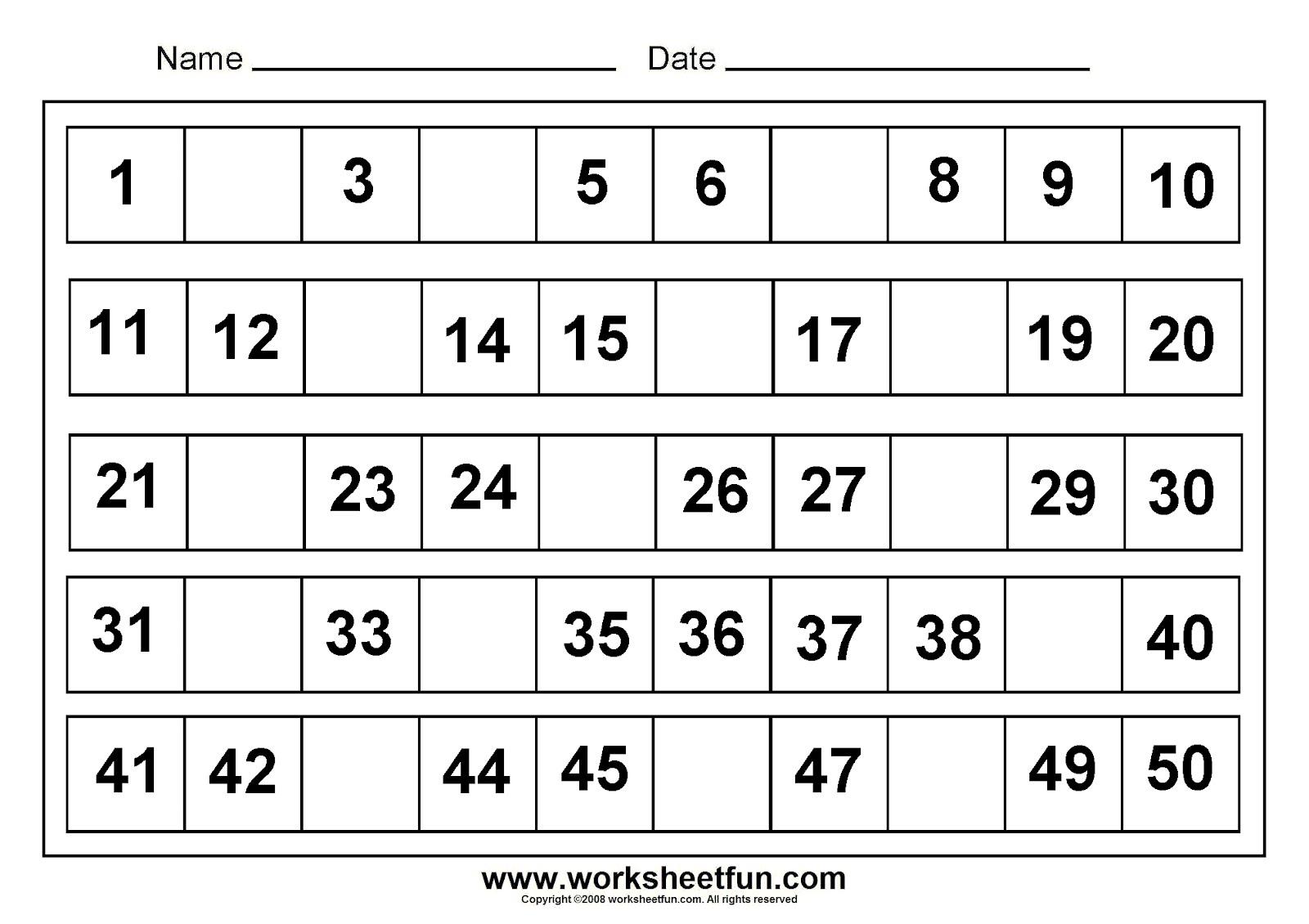 Free Worksheet For Kindergarten Worksheets For All