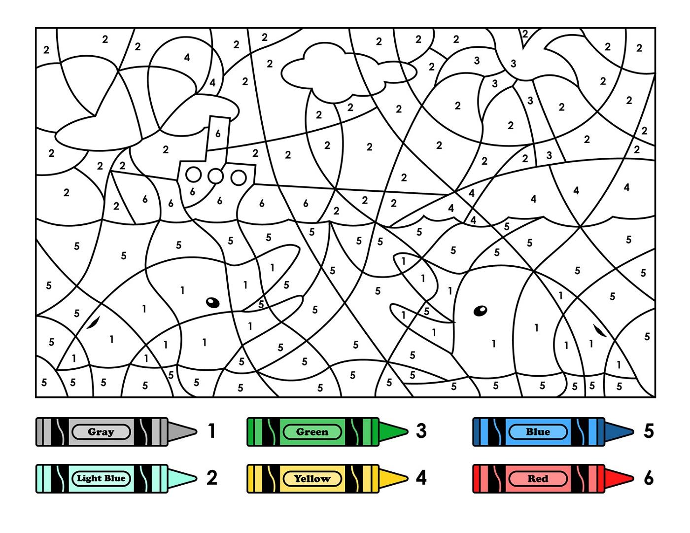 Fundamentals Preschool Color By Number Printab  5446