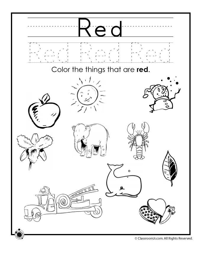 Funky Colour The Picture Worksheet Inspiration