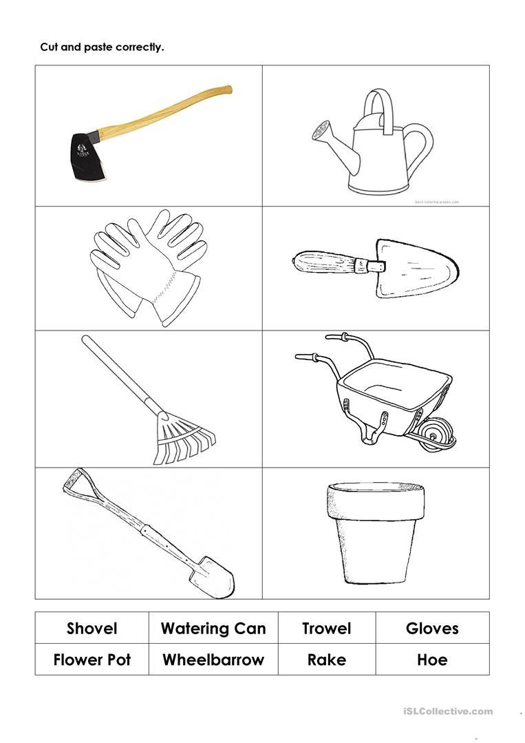 Gardening Tools Worksheet