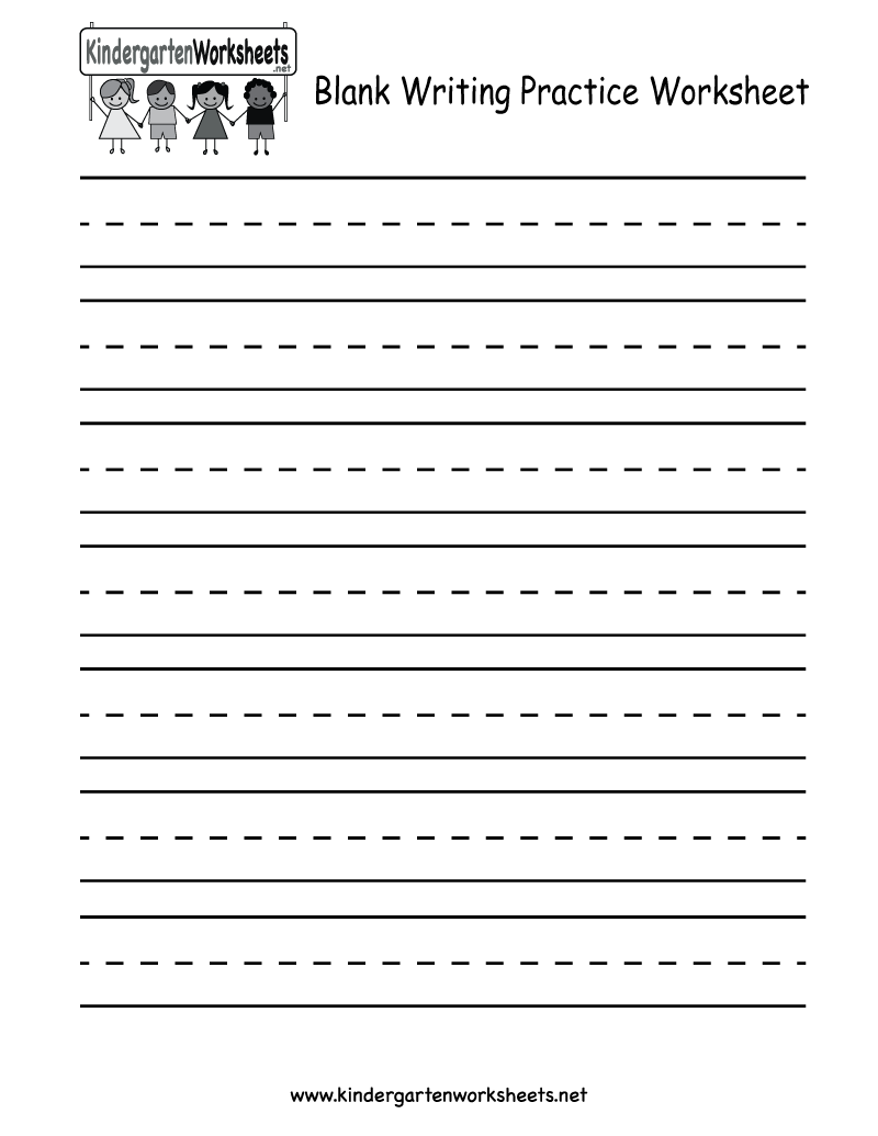 Handwriting Worksheets For Kids Release Blank Writing Practice