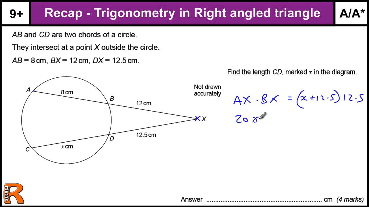 How To Do Circle Theorems A A  Gcse Higher Maths Worked Exam Paper