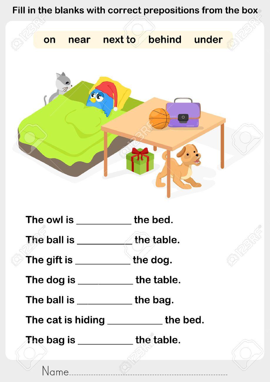 Image Result For Preposition Worksheets In On Under