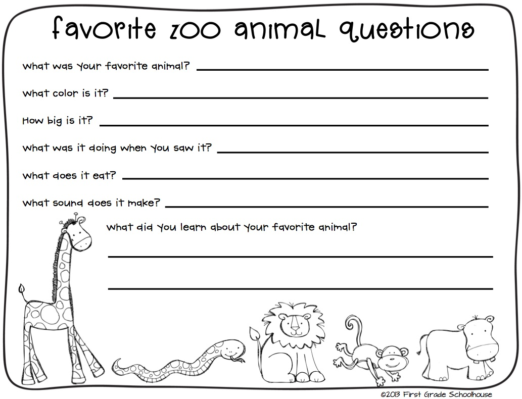 Interesting Zoo Worksheets For 2nd Grade About Zoo Field Trip