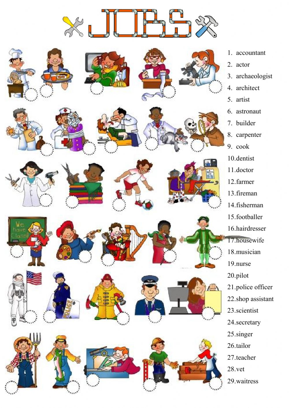 Jobs And Occupations Interactive Worksheets