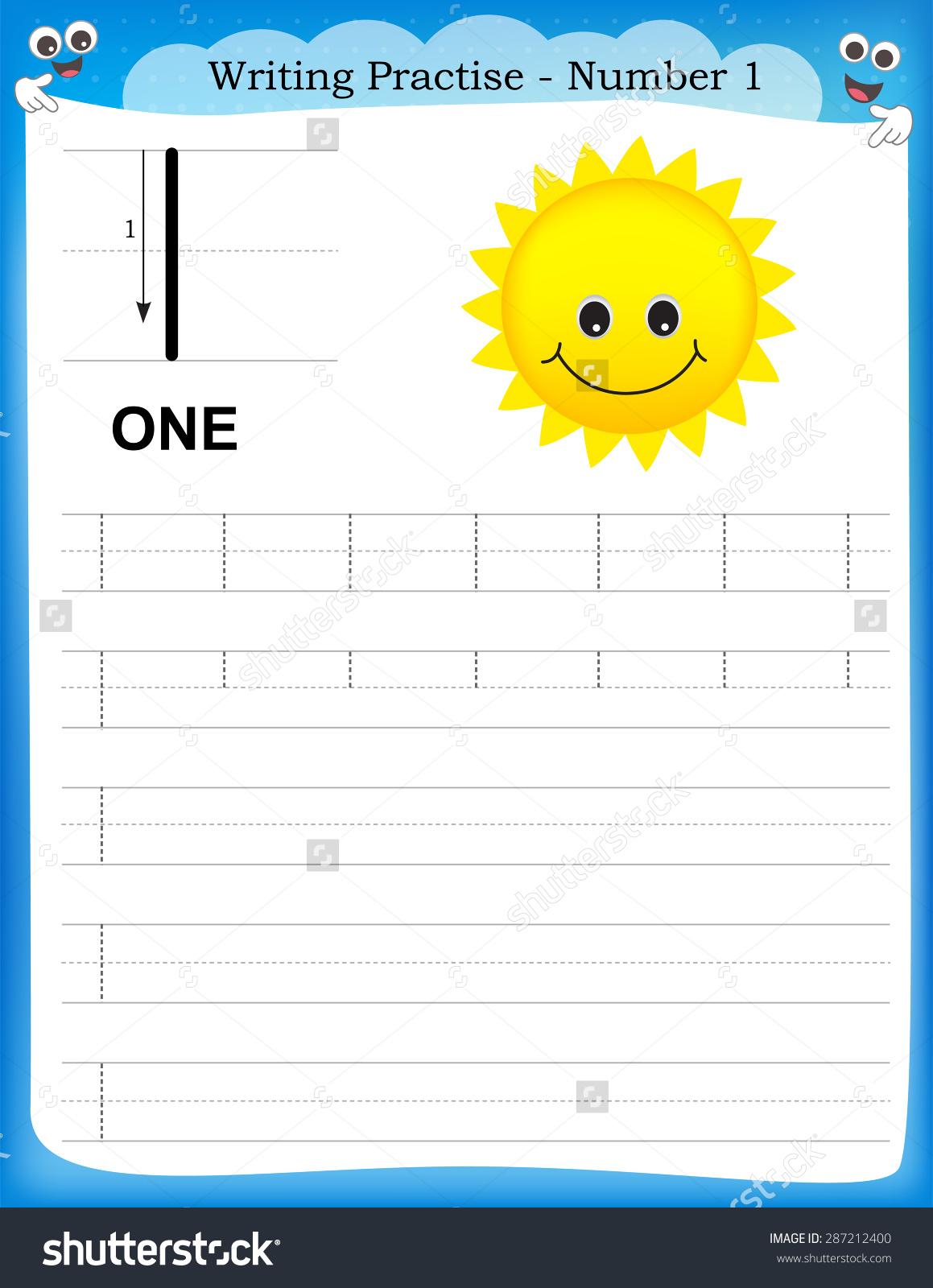 Kids  Kindergarten Number Writing Practice Worksheets  High