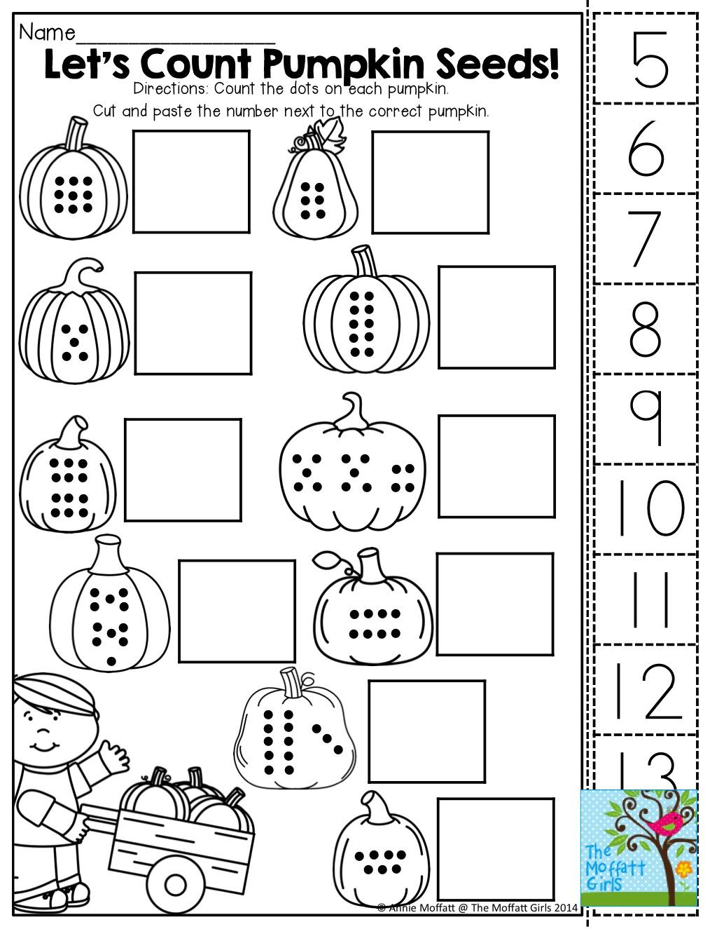 Kindergarten  Kindergarten Count Cut And Paste Tons Of Fun