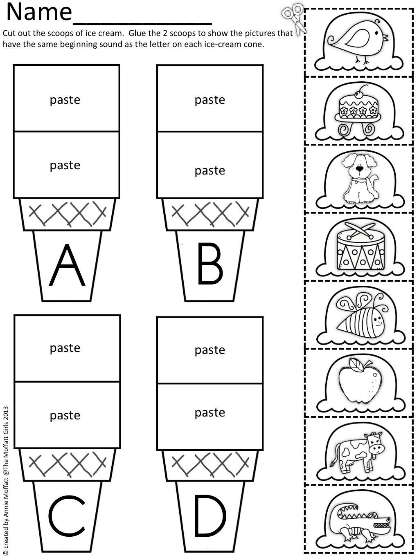 Kindergarten Alphabet Worksheets Cut And Paste