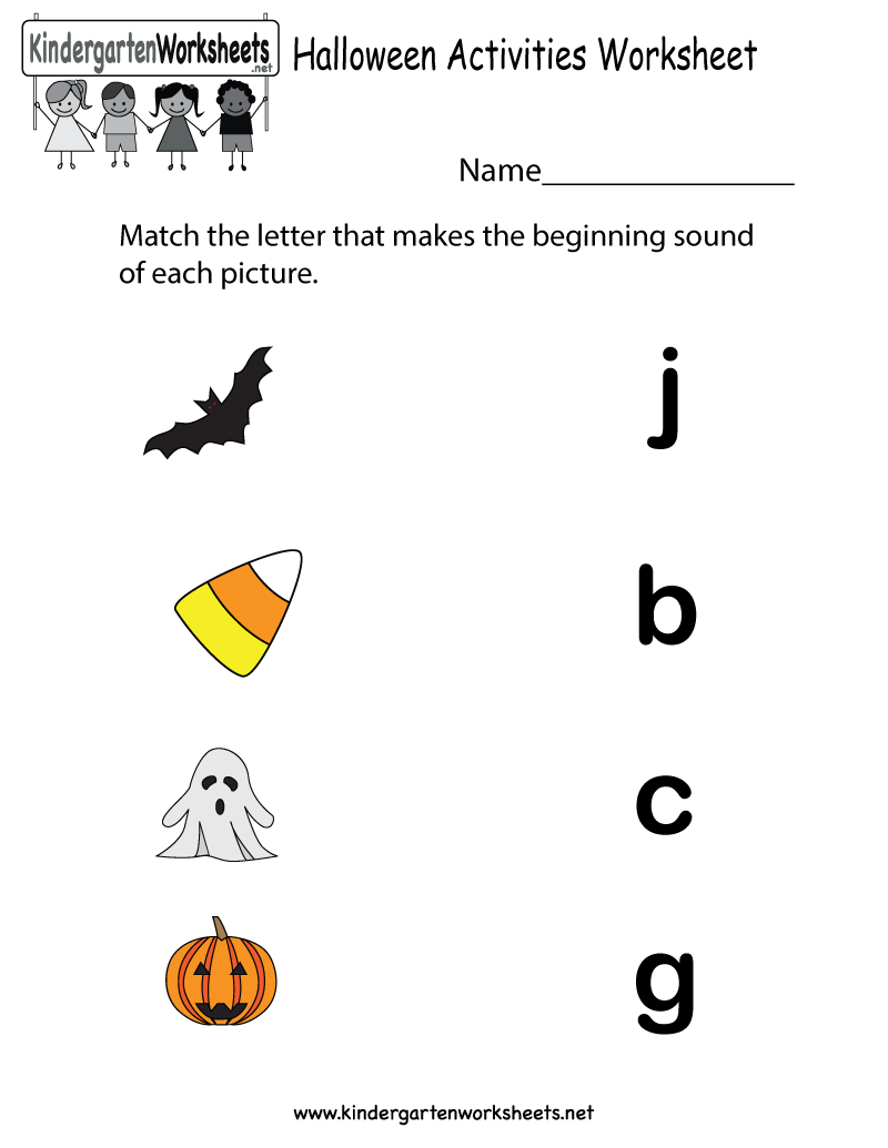 Kindergarten Halloween Printables Worksheets For All