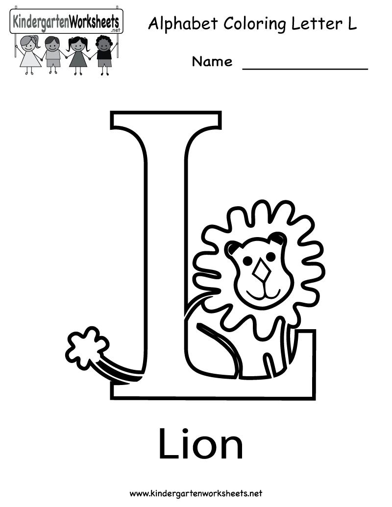 Kindergarten Letter L Worksheet Worksheets Phonics Worksheets