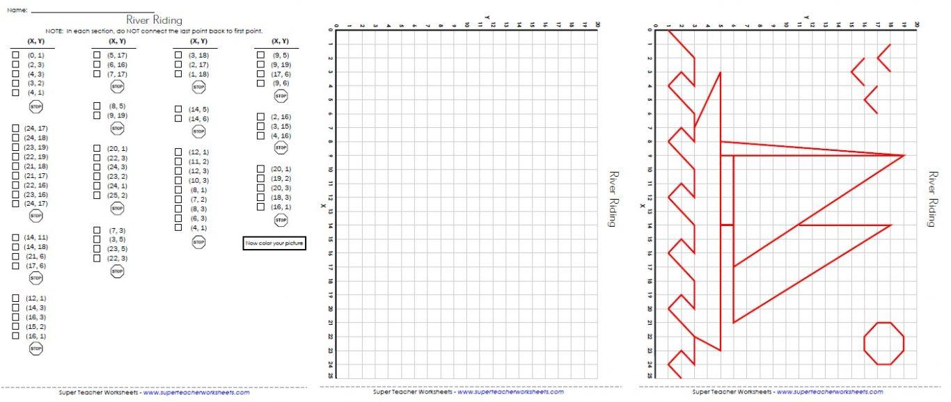 Kindergarten Pictures Coordinate Plane Mystery Picture Worksheets