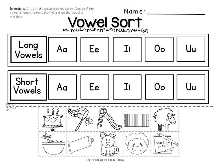 Long Vowel Worksheets Kindergarten
