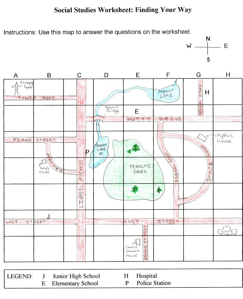 Map Grid Worksheet Worksheets For All