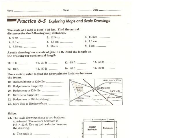 Map Scale Worksheet Images