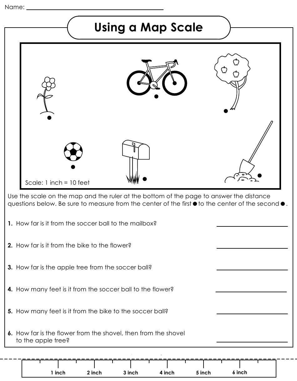 Map Scale Worksheets 3rd Grade Worksheets For All