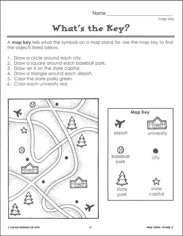 Map Worksheets For First Grade The Best Worksheets Image