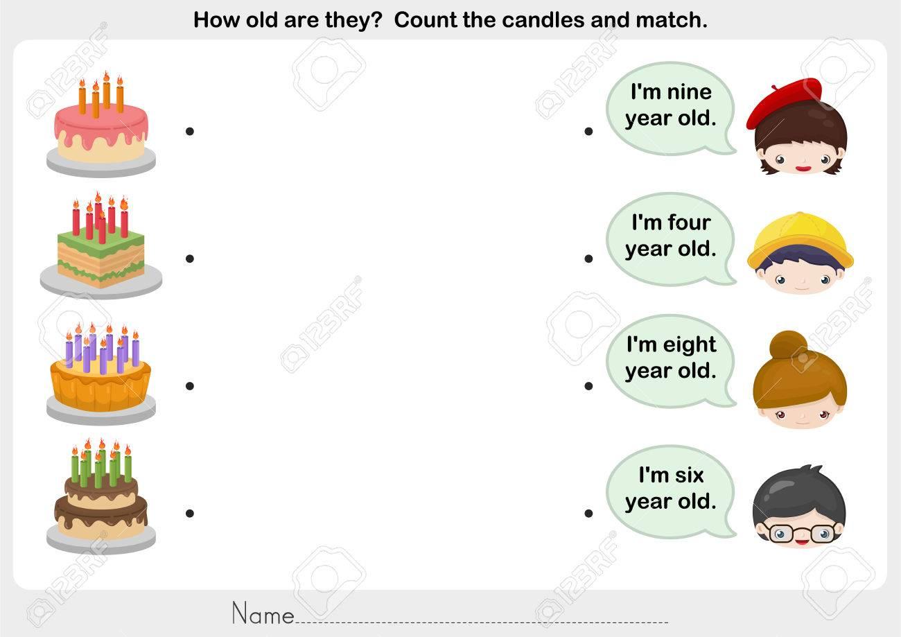 Matching People And Birthday Cake