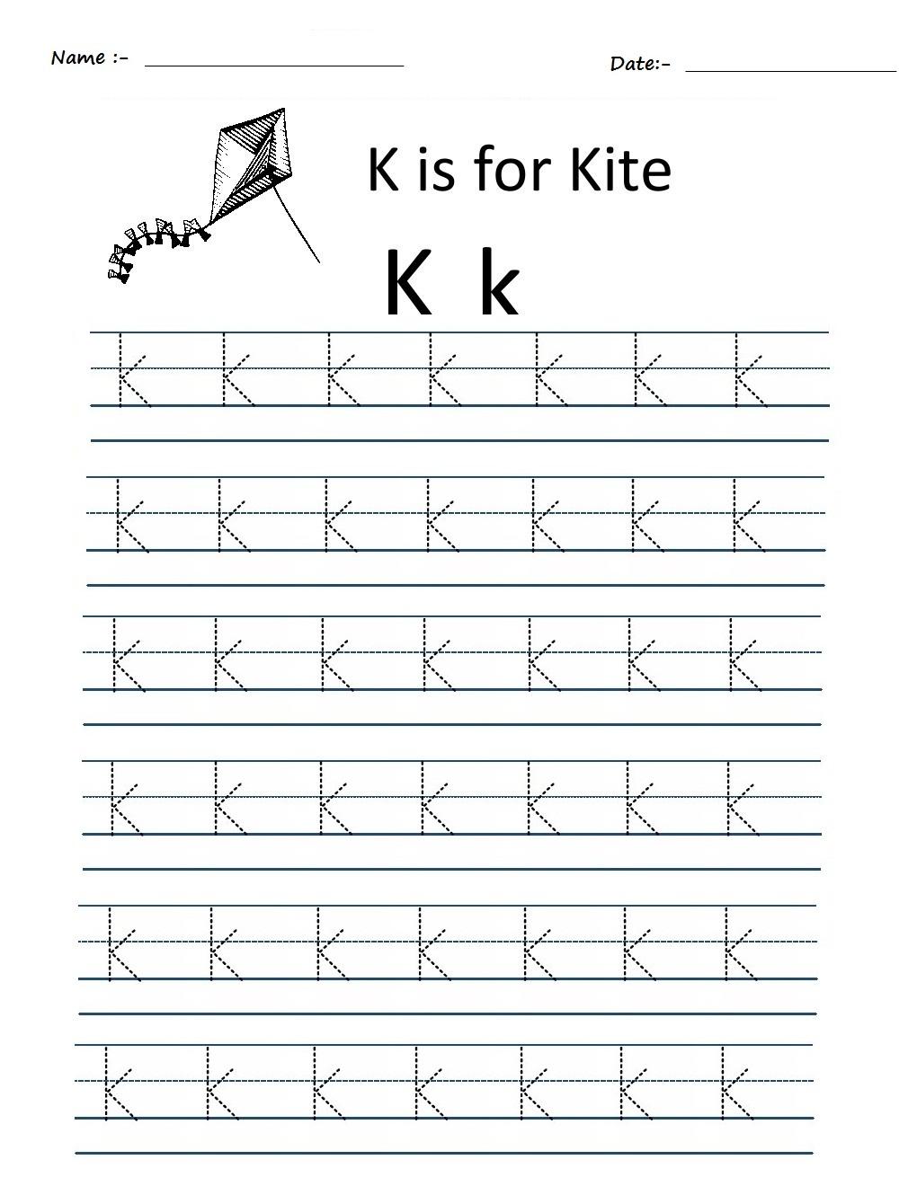 Math Worksheets Alphabet Writing For Kindergarten Handwriting