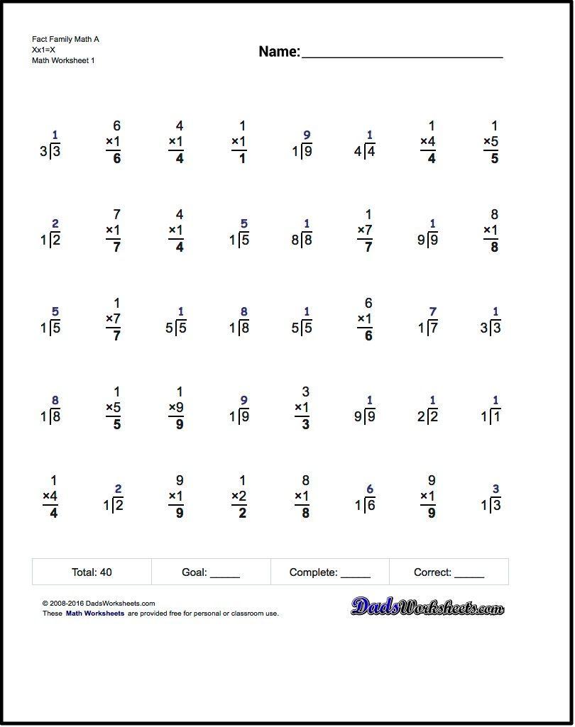Math Worksheets Basic Division Facts Printableade Worksheet 3rd 0