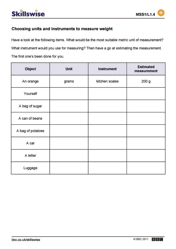 Measuring Weight Worksheet The Best Worksheets Image Collection