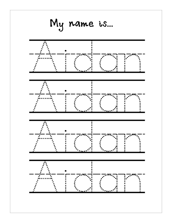 Name Tracing Templates