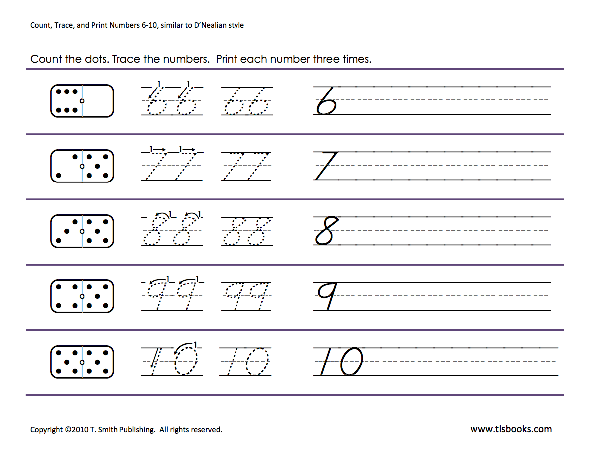 Numbers Tracing  6