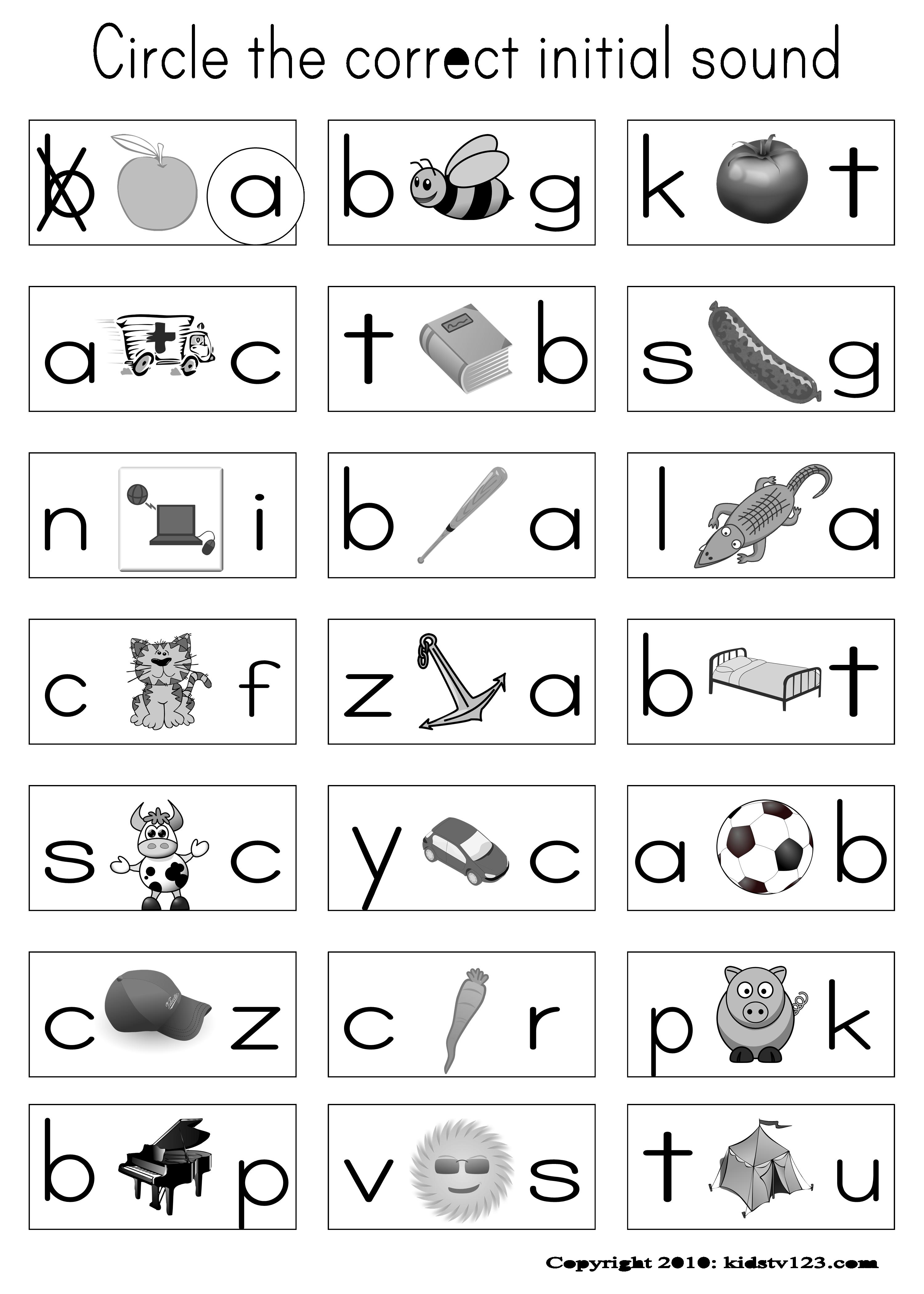 Phonics Worksheets For Pre Kindergarten