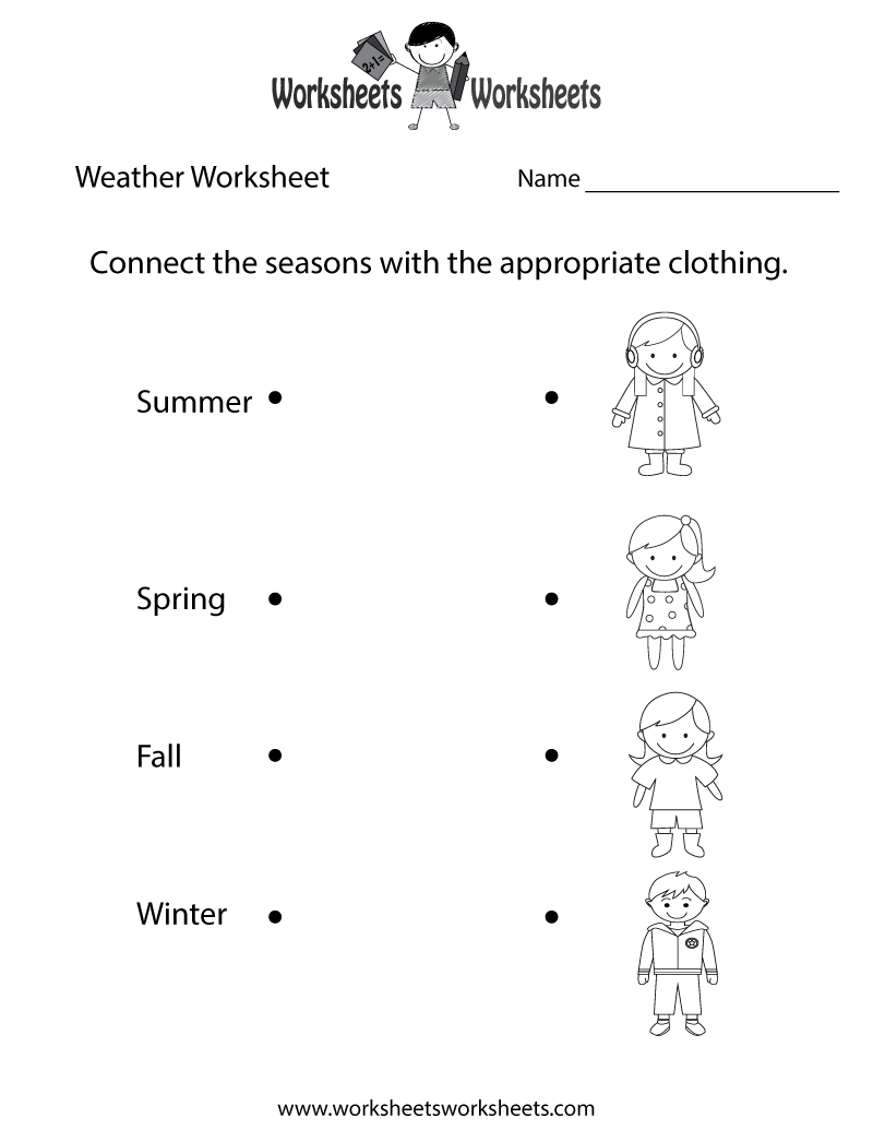 Pleasant Free Seasons Worksheets For First Grade On Free Kids