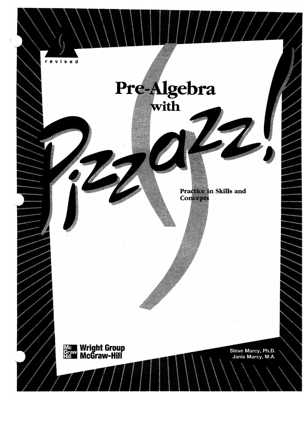 Prealgebra With Pizzazz Ebook By Denise Russell