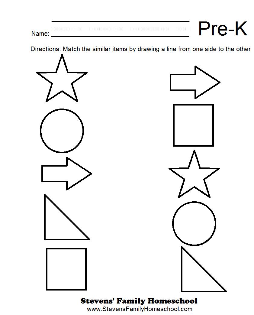 Printable Worksheets For Prek Worksheets For All